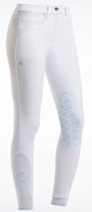Cavalleria Toscana special edition grip breeches vita med ljusblå logga + grip