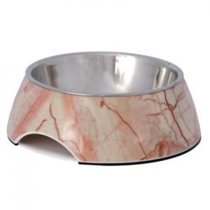 Hundskål i ljus marmor