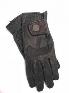Handske i getskinn med glitter