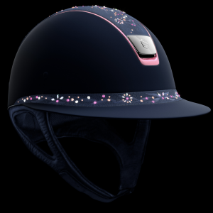 Samshield Shadowmatt Miss Shield Flower Jewel Navy/Pink Pink