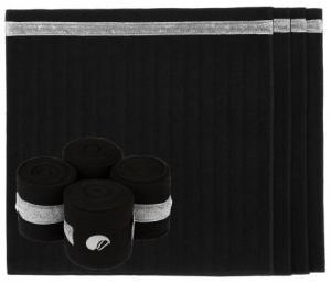 Equito bandagunderlägg black silver