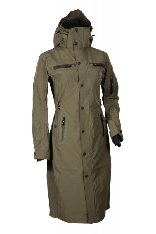 Uhip Trench Mid Length Coat Grape Leaf Green