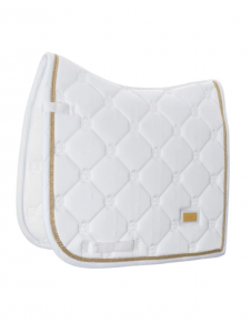 Equestrian Stockholm Dressyrschabrak White Perfection Gold
