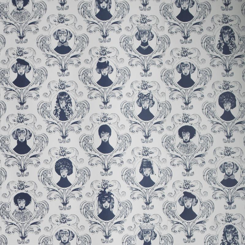 Wallpaper sample Tillsammans blue A4