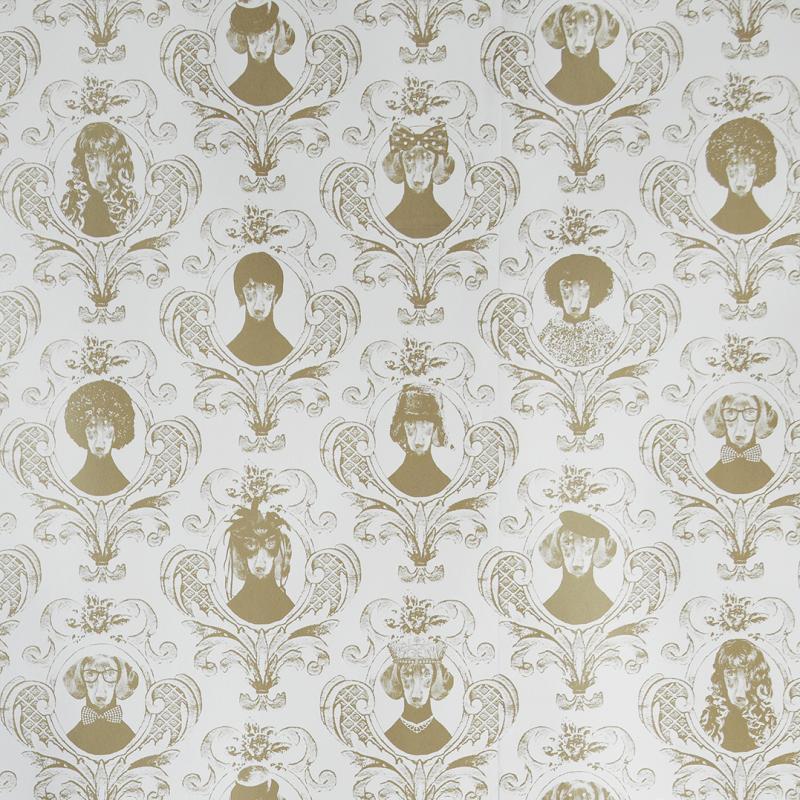Wallpaper sample Tillsammand gold A4