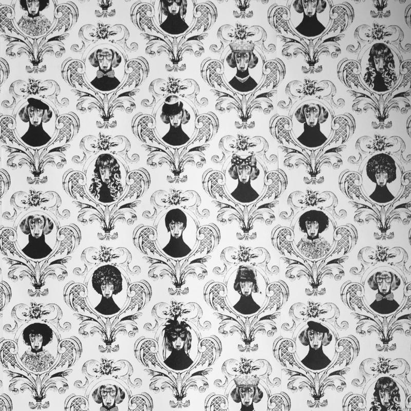 Wallpaper sample Tillsammans black A4