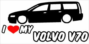 """I Love My Volvo V70"" 100x50 mm"