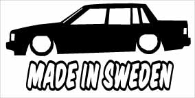 """Made In Sweden Volvo 740"" 100x50 mm"