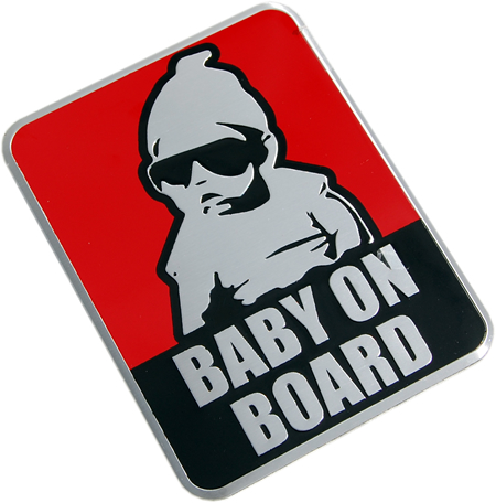 "Metallemblem ""BABY ON BOARD"""