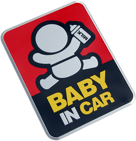 "Metallemblem ""BABY IN CAR"""