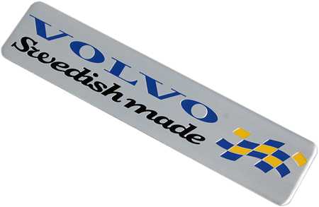 "Metallemblem ""VOLVO SWEDISH MADE"""