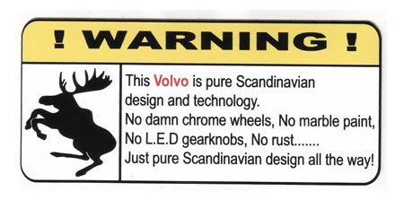 """True Volvo"" Varningsdekal"