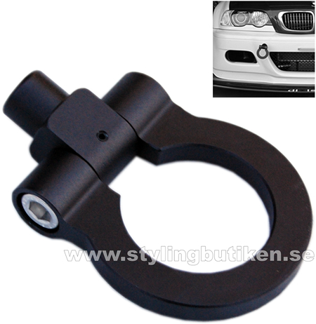 """Tow Hook """"Just for Show"""" Black"""