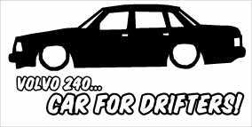"""Volvo 240 Car For Drifters"" 100x50 mm"