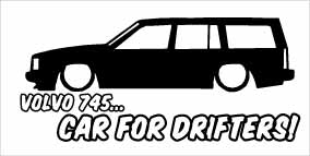 """Volvo 745 Car For Drifters"" 100x50 mm"