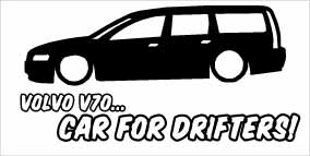 """Volvo V70 Car For Drifters"" 100x50 mm"