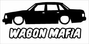 """Wagon Mafia Volvo 240"" 100x50 mm"