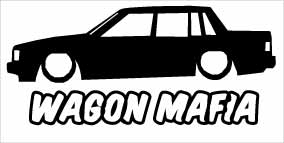 """Wagon Mafia Volvo 740"" 100x50 mm"