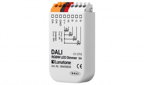 Lunatone DALI DT8 12-48V RGBW LED-Dimmer 8A