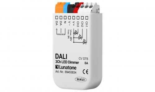 Lunatone DALI 3-k 12-48V LED-Dimmer 8A