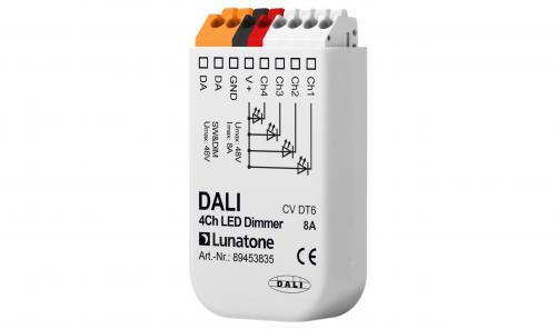 Lunatone DALI 4-k 12-48V LED-Dimmer 8A