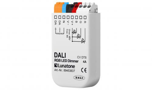 Lunatone DALI DT8 12-48V RGB LED-Dimmer 4A