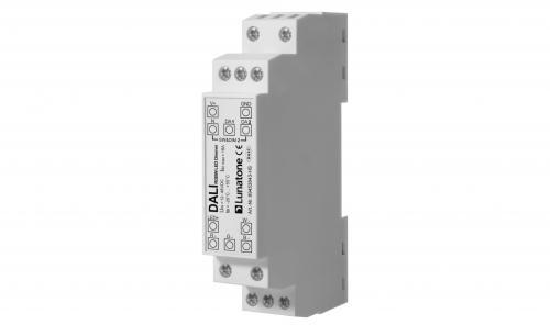 Lunatone DALI DT8 12-48V RGBW LED-Dimmer 16A DIN