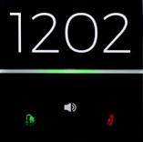 eelectron 9025 Front RGB Hotelldörr 2kn + Klocka Vit
