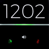 eelectron 9025 Front RGB Hotelldörr 2kn + Klocka Svart