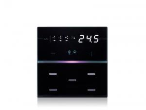 eelectron 9025 Front Standard 5kn Termostat/Hygrostat Svart Hotell