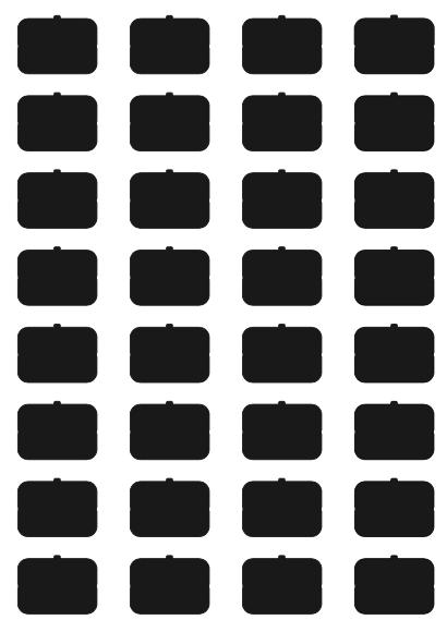eelectron 9025 Ikonset A 32st BLANK för Front Custom Svart