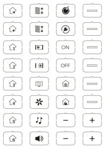 eelectron 9025 Ikonset D 32st för Front Custom Vit