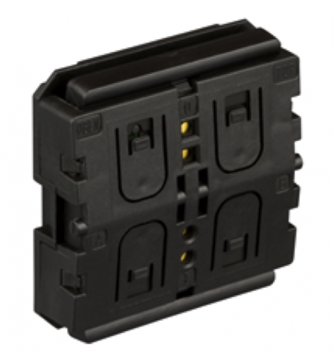 ZF KNX RF Tryckknappsinsats Batterilös 2/4-kn