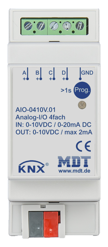 MDT Analogaktor 4-kan 0-10V IN-UT