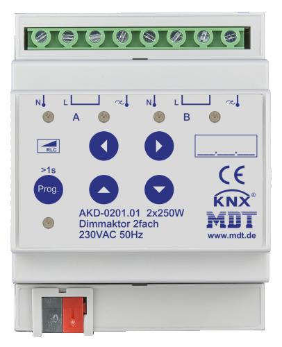MDT Dimmeraktor 2-kan 250W/50W LED Bryggb.