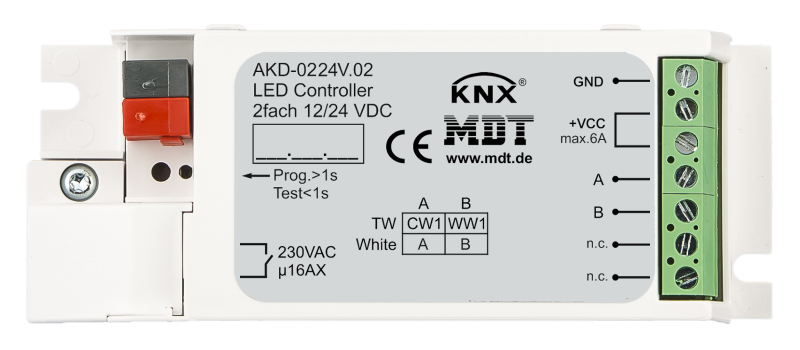 MDT Dimmeraktor 2-kan 12-24V LED-stripe