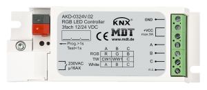 MDT Dimmeraktor 3-kan 12-24V LED RGBW