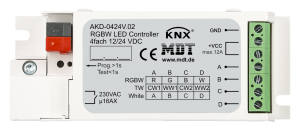 MDT Dimmeraktor 4-kan 12-24V LED RGBW