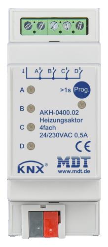 MDT Värmeaktor 4-kan 24-230VAC