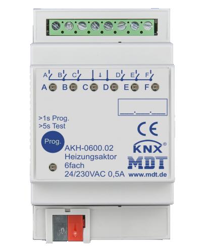 MDT Värmeaktor 6-kan 24-230VAC