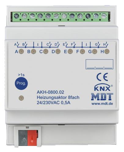 MDT Värmeaktor 8-kan 24-230VAC