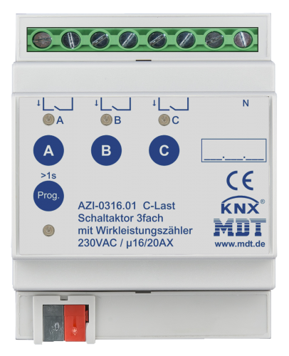MDT Brytaktor 3-kan AZI C-last Energimätning