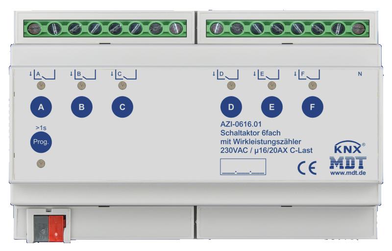 MDT Brytaktor 6-kan AZI C-last Energimätning
