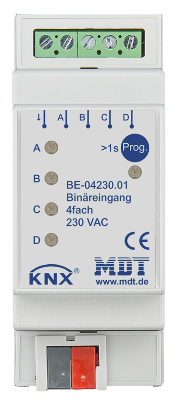 MDT Binäringång 4-kan 24V AC/DC
