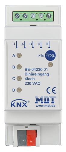 MDT Binäringång 4-kan 24V AC-DC