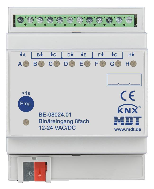 MDT Binäringång 8-kan 24V AC/DC