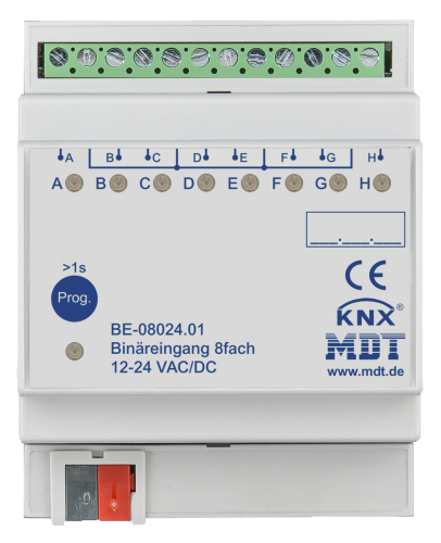 MDT Binäringång 8-kan 24V AC-DC