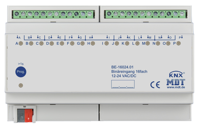 MDT Binäringång 16-kan 24V AC-DC