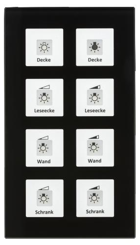 MDT Tryckknapp Push Button Plus 8-kn Svart glas