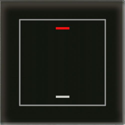 MDT Glass Push Button II Lite 2-kn Neut Svart